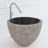Long stone sink