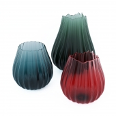 A set of glass vases