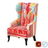 Кресло Patchwork Red KARE