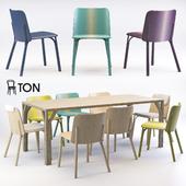 Ton Split chair & Bloom table 2