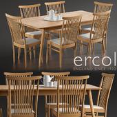 Ercol Teramo Medium Extending Dining Table, Ercol Teramo Dining Chair