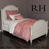 RH BELLINA ARCHED PANEL BED