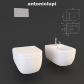 Унитаз и Биде Komodo  antonio lupi, Раковина Segno и аксессуары  sesamo Design Arkimera