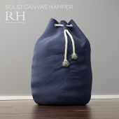 Restoration Hardware solid canvas hamper