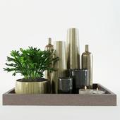 decorative set on a tray