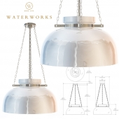 Helio Ceiling Mounted Large Pendant with Glass Shade