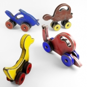 Vintage Toys Wooden Animal 001