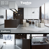 Kitchen Poliform Varenna Twelve (vray + corona)