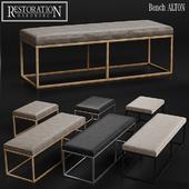 RH Modern Alton Leather Bench