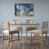 IKEA LERHAMN Chair and table