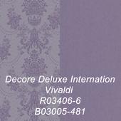 Бесшовная текстура обоев фабрики Decor Deluxe Internation Vivaldi