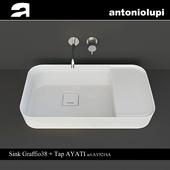 Antoniolupi Sink Graffio38 + Tap AYATI