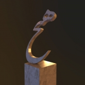 Hich Statue by Tanavoli