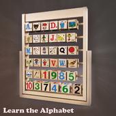 Wooden Alphabet, ABC for Kids