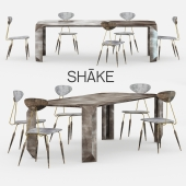 Shake design table with chairs