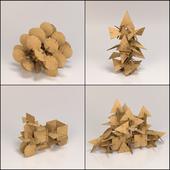 Cardboard figures