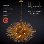STRADA OVAL PENDANT, Kelly Wearstler