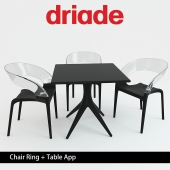 Driade Chair Ring + Table App