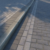 Paving slabs and curb (curb) v2