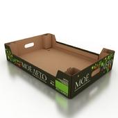 Corrugated box for vegetables