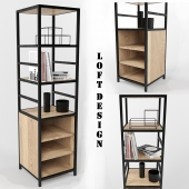 Shelving in the industrial (loft) style
