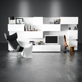 Гостиная IKEA и кресло BoConcept Imola 8510