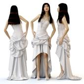 Wedding evening dress on the model of Pauline