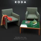 Roda Double Lounge and Teka Coffee Table