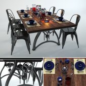 Iron dining table from IndustriaLux