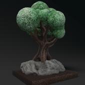 Sculpture cartoon tree