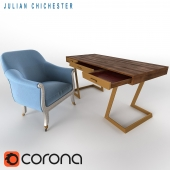 Julian Chichester: Library Chair + Onegin Desk