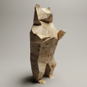 Art object Lowpoly Medvezhenok