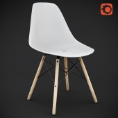 DSW Plastic chair by Chales Eames