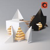 Interactive sculpture (The illuminating folding light)
