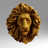 Scanned head Lion