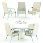 HELIODOR DINING TABLE + JASPER ARM CHAIR