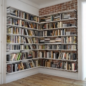 Bookshelves with decor