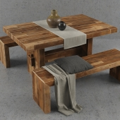 West Elm Emmerson dining table set