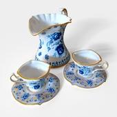 Чайный сервиз из гжельского фарфора