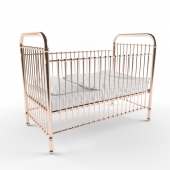 Rose gold childrens cot
