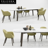Poliform Mad Dining Chair And Table