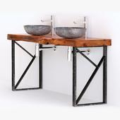 washbasin solid wood