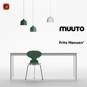 Muuto dining set and Fritz Hansen Ant