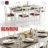 Scavolini Baccarat table and chairs White