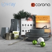 Scandinavian Christmas Decor Set