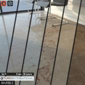 TUREX INTERNATIONAL Marble Tiles Set of 12
