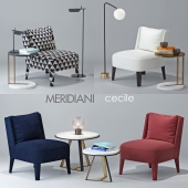 Chair Meridiani Cecile