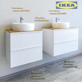 Cabinet GODMORGON sink countertop + Alderney (two options) + sink + Gattoni TORNVIKEN mixer (On perezalivke)