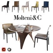 Arc table, Breva chair, Tivan chair (Molteni&C)