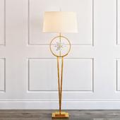 ENCIRCLED QUARTZ CRYSTAL STAR FLOOR LAMP